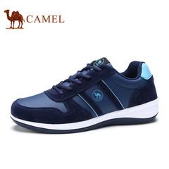 CAMEL骆驼男鞋2017春季新款轻便运动休闲鞋舒适圆头系带男士鞋