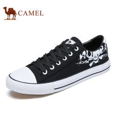 Camel/骆驼男鞋 秋冬时尚滑板鞋圆头系带帆布鞋平跟单鞋