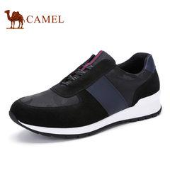 Camel骆驼男鞋 2017春季潮流运动鞋跑鞋时尚迷彩风运动男鞋