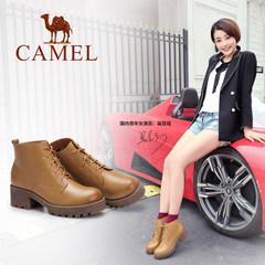 骆驼2016秋冬新款舒适百搭保暖简约时尚女短靴森马丁靴