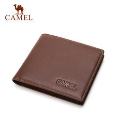 Camel/骆驼钱包新款男士真皮钱夹商务休闲横款牛皮皮夹男正品短款