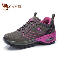 Camel/骆驼女鞋 真皮春夏季健步鞋跑步鞋舒适休闲女单鞋系带女鞋