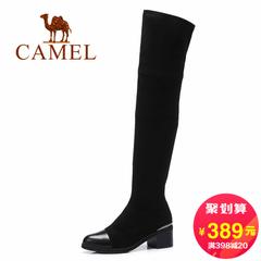 Camel/骆驼女靴 2016秋冬新款高筒女靴简约优雅过膝长筒女靴