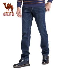 Camel/骆驼男装 春季新品男中腰合体直筒商务休闲牛仔裤长裤