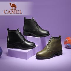 Camel/骆驼短靴 2016秋冬新款 时尚纯色短筒马丁靴 简约时尚女靴