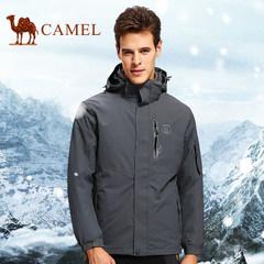 CAMEL骆驼户外 男款三合一冲锋衣防风保暖男款冲锋衣