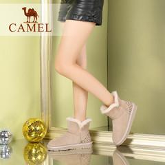 Camel/骆驼短靴 2016秋冬新款雪地靴 舒适保暖女靴休闲套筒短靴
