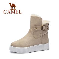 Camel/骆驼女靴 2016秋冬新款 麂皮绒温暖舒适短筒雪地靴女靴