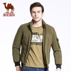 骆驼冬季新款商务休闲立领90白鸭绒羽绒服短款外套男潮