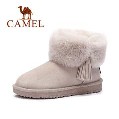 Camel/骆驼短靴 2016秋冬新款雪地靴舒适保暖短筒靴套筒女靴子