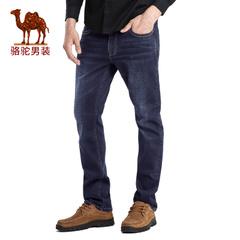 Camel/骆驼男装 春季新品商务休闲中腰合体直筒牛仔裤男长裤