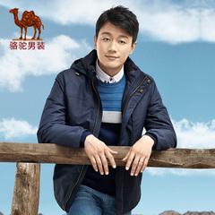 Camel/骆驼男装 冬季新品男士连帽英式学院纯色棉衣棉服外套