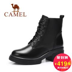 Camel/骆驼短靴 2016秋冬新款 英伦风真皮马丁靴 圆头休闲女靴