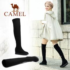 Camel/骆驼女靴 秋冬女靴过膝长靴弹力靴长筒内增高时尚女靴