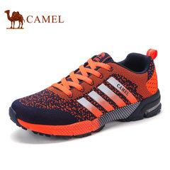 Camel/骆驼男鞋夏季潮流时尚休闲低帮鞋飞织网布运动男鞋