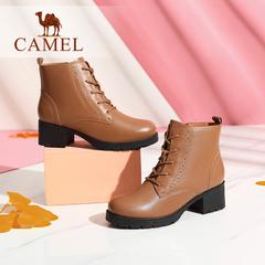 Camel/骆驼短靴 秋冬女鞋 简约纯色马丁靴经典百搭短靴女靴子