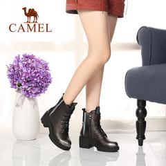 Camel/骆驼女靴 秋冬女鞋 欧美时装靴 休闲时尚真皮女靴