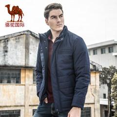 骆驼 冬季新款时尚保暖立领棉衣多袋商务休闲外套上衣