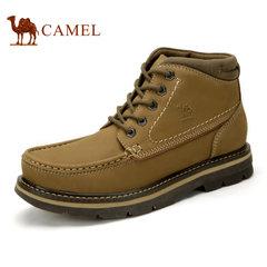 Camel/骆驼男鞋 真皮鞋户外休闲高帮鞋工装鞋耐磨休闲男鞋