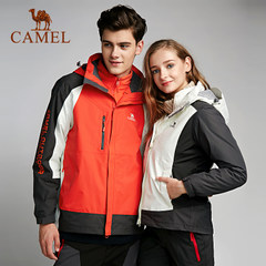 CAMEL骆驼户外情侣款冲锋衣 男女秋冬防风透湿保暖冲锋衣