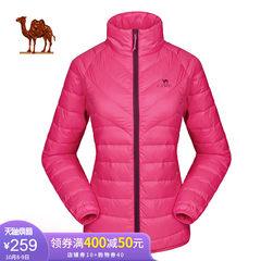骆驼运动情侣款羽绒服保暖修身男女情侣款轻薄羽绒服
