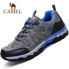 Camel/骆驼男鞋运动鞋户外休闲鞋跑步鞋越野跑鞋网布透气防滑网鞋