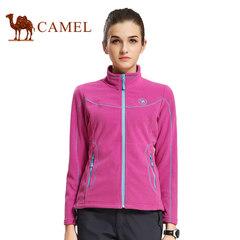 CAMEL骆驼女款开胸抓绒衣春季户外保暖拉链立领外套