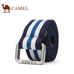 Camel/骆驼秋季新款腰带 时尚青春撞色编织布腰带 男女通用