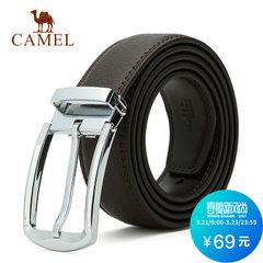 Camel/骆驼 男士皮带商务休闲青年裤带合金针扣牛皮腰带男