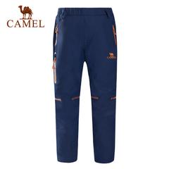camel/骆驼 秋冬男童女童登山裤防水保暖户外儿童冲锋裤