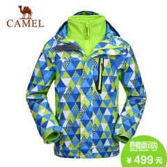 camel/骆驼 青少年防水透气时尚儿童户外三合一冲锋衣