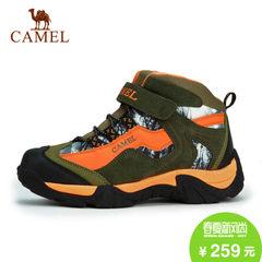camel/骆驼 儿童户外男女高帮绒里保暖防滑缓震登山鞋