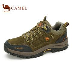 骆驼户外登山鞋男鞋低帮防滑耐磨牛皮户外越野徒步鞋