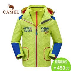 camel/骆驼男女儿童户外时尚外套三合一两件套冲锋衣