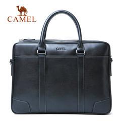 Camel骆驼 真皮男士手提包商务休闲牛皮单肩包男潮流男包