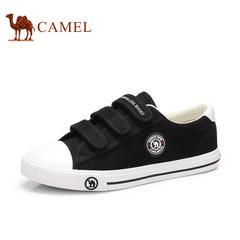 骆驼女鞋新款低帮帆布鞋女休闲魔术贴小白鞋韩版单鞋