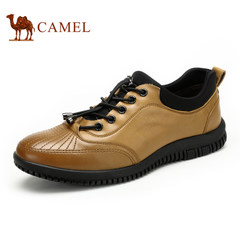 camel骆驼男鞋 系带纯色男士鞋英伦风日常休闲男鞋