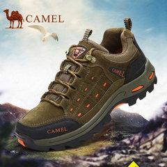 CAMEL骆驼户外鞋登山鞋男士防滑耐磨砂牛皮中年运动鞋低帮徒步鞋
