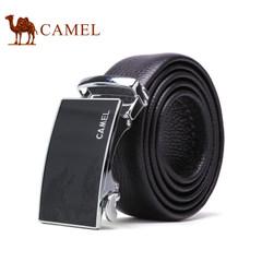Camel/骆驼皮带男士真皮皮带牛皮商务休闲青年腰带自动扣时尚裤带