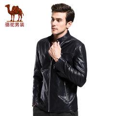 骆驼&熊猫联名系列男装 时尚立领纯色外套青年加厚夹克衫jacket男