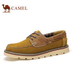 Camel骆驼男鞋 春季日常时尚潮流韩版磨砂皮春季男单鞋
