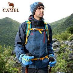 【东丽面料】CAMEL骆驼户外冲锋衣 防风防水情侣男女款冲锋衣