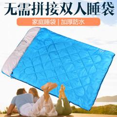喜馬拉雅雙人睡袋戶外成人情侶冬季加厚保暖露營室內隔臟三人睡袋