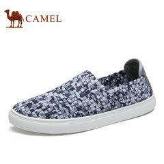 Camel/骆驼男鞋 柔软透气布鞋松紧编织休闲鞋轻便懒人鞋套脚鞋男