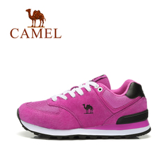 Camel/骆驼男女鞋情侣款运动休闲秋冬越野跑鞋牛皮跑步鞋