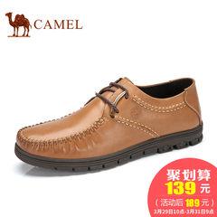 Camel骆驼透气鞋男鞋日常休闲皮鞋男士鞋子春季英伦皮鞋子