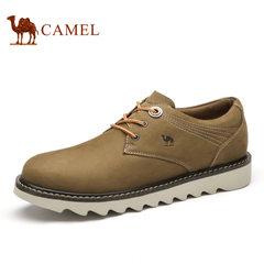 Camel骆驼男鞋 春季日常户外休闲磨砂皮舒适系带休闲男鞋