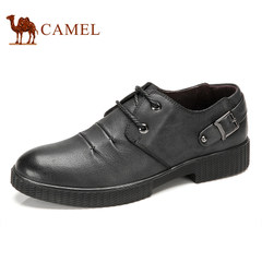 CAMEL骆驼新款男鞋 真皮系带男款鞋流行男鞋低帮鞋