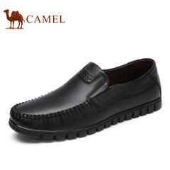 Camel/骆驼男鞋2017春季新款商务休闲鞋套脚鞋软底轻盈鞋子男