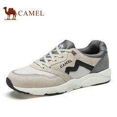 Camel/骆驼男鞋低帮系带鞋轻质舒适网面鞋时尚运动休闲鞋